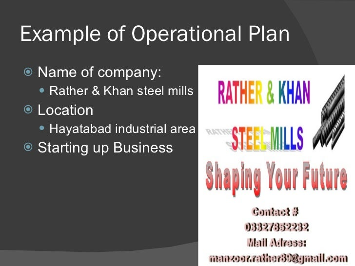 Plan - Business operating plan template