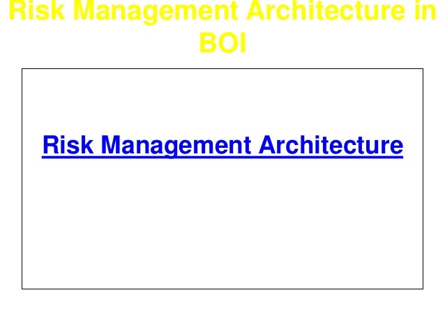 Risk Management Architecture in  BOI  Risk Management Architecture