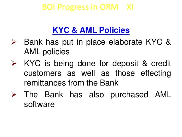 BOI Progress in ORM XII  Employee Fraud Prevention  Maker Checker concepts & Dual Control  Adequate Remuneration & compe...