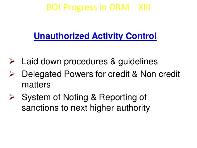 BOI Progress in ORM XIV  Employee Practice & Work Place Safety   Documented HR Policy for appointment,  transfer, promoti...