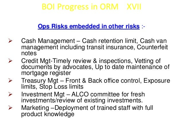 To Summarize…   Operational Risk if the most important of all risks as it involves  managing the unknown! Most difficult ...