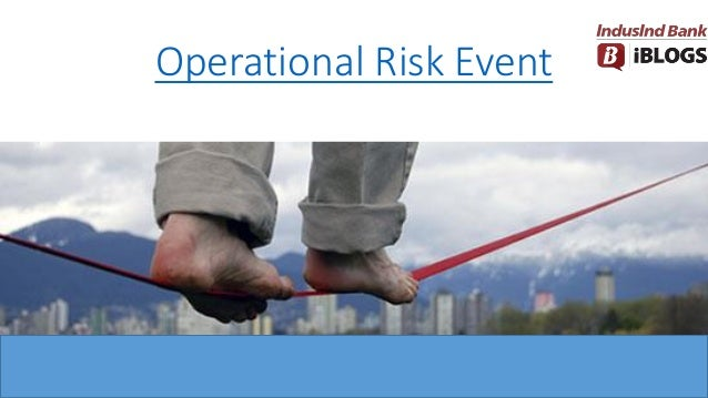 Operational Risk Event
