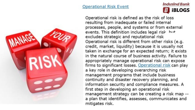 Operational Risk Event Operational risk
