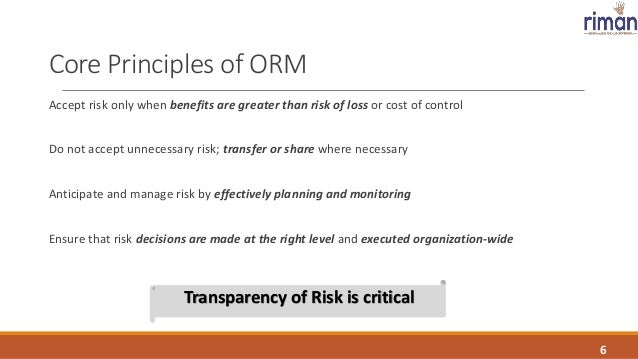 Operational Risk Management - A Gateway to managing the risk