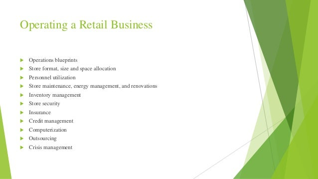 Operation blueprint 2 operating a retail business operations blueprints store format size malvernweather Gallery