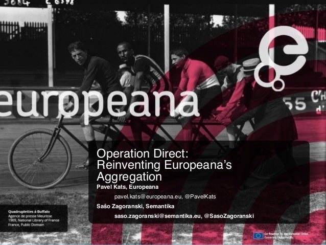 Operation Direct: Reinventing Europeana's Aggregation CC BY-SA Operation Direct: Reinventing Europeana's Aggregation Pavel...