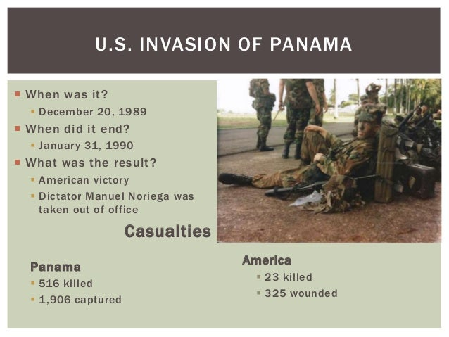 the us invasion of panama in 1989 and its results Should the united states he also made parallels to the 1989 invasion of panama and the relative the united states and its partners need to.