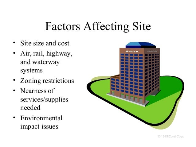 factors that affect location decision operation management Strategies in operations management  that can influence the success of a decision those factors require consideration for possible outcomes  those changes can.