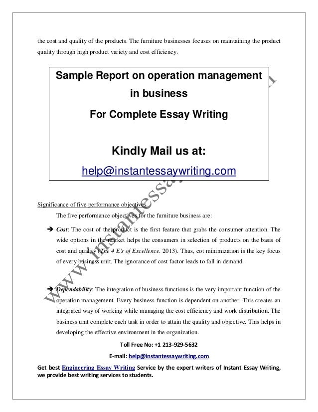the role of operations managements business essay Human resource managements role in organizations business essay human resource managements role in organizations business.
