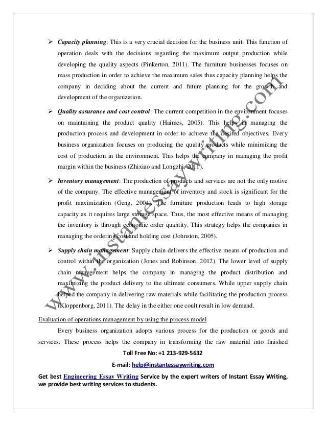 business operations essay grade 12