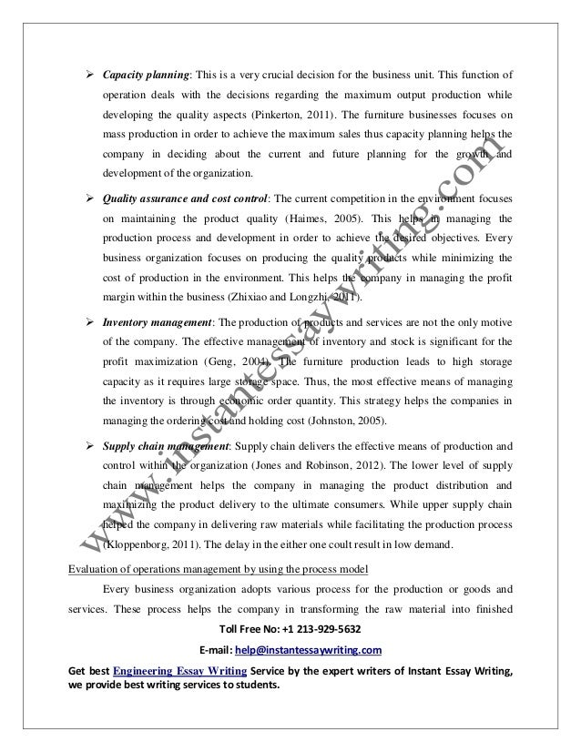 sample on operation management in business by instant essay writing  6