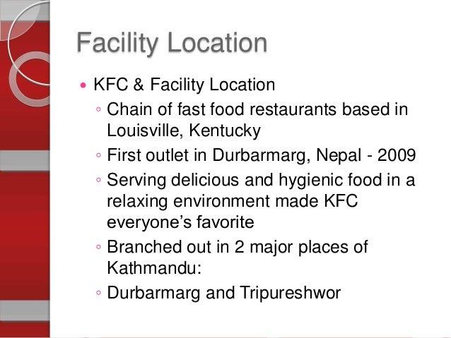 operatiom process of kfc View notes - kfc operations (presentation) from om 253 at sp jain kfc  kfc operations (presentation) - kfc facility location and.
