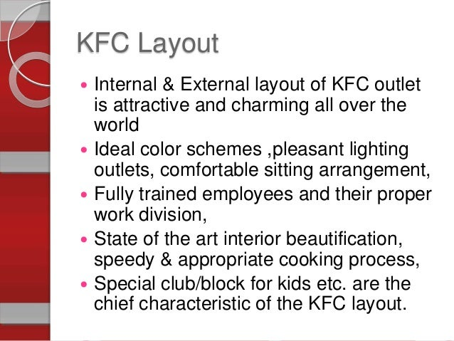 operatiom process of kfc Sanitation practices standard operating procedures and good retail practices  operations to ensure appropriate compliance with cleaning procedures and to.