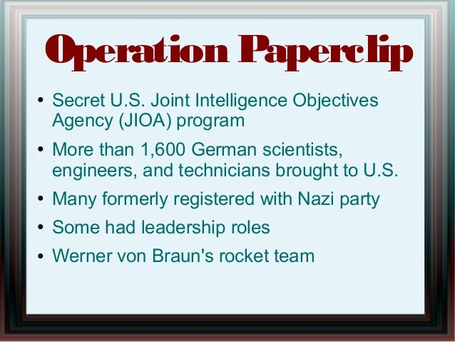 Cocktails With the CIA, Episode 8, Operation Paperclip