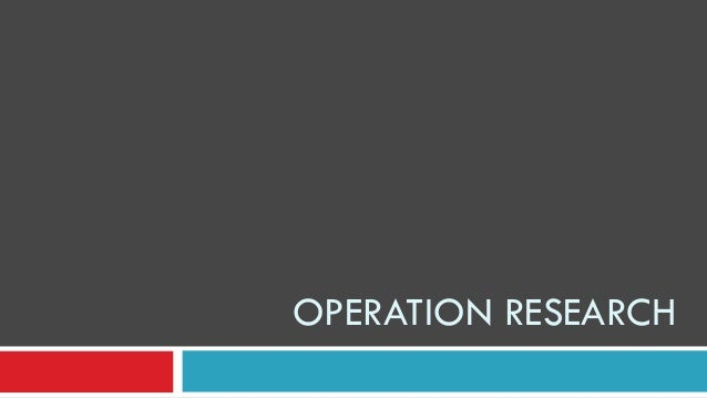 Operations Research for Health Care