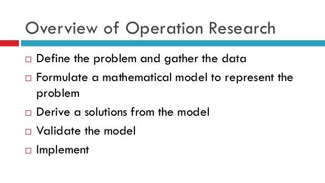 limitations of operations research Leran how to structure the research limitations section of your dissertation.