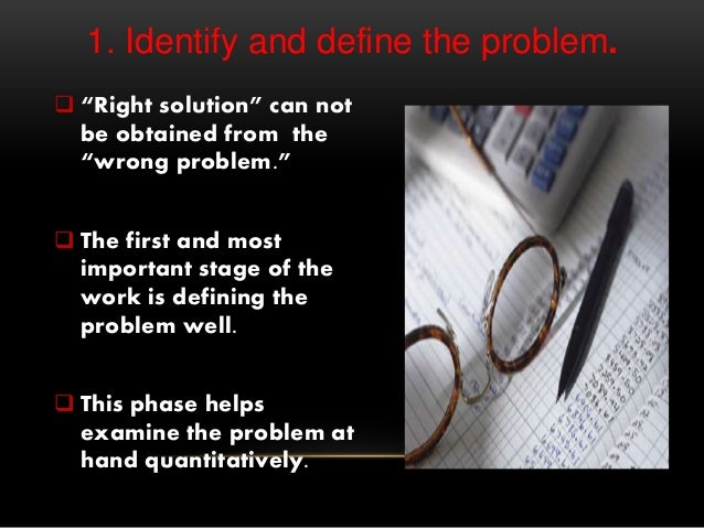 """1. Identify and define the problem.  """"Right solution"""" can not be obtained from the """"wrong problem.""""  The first and most ..."""