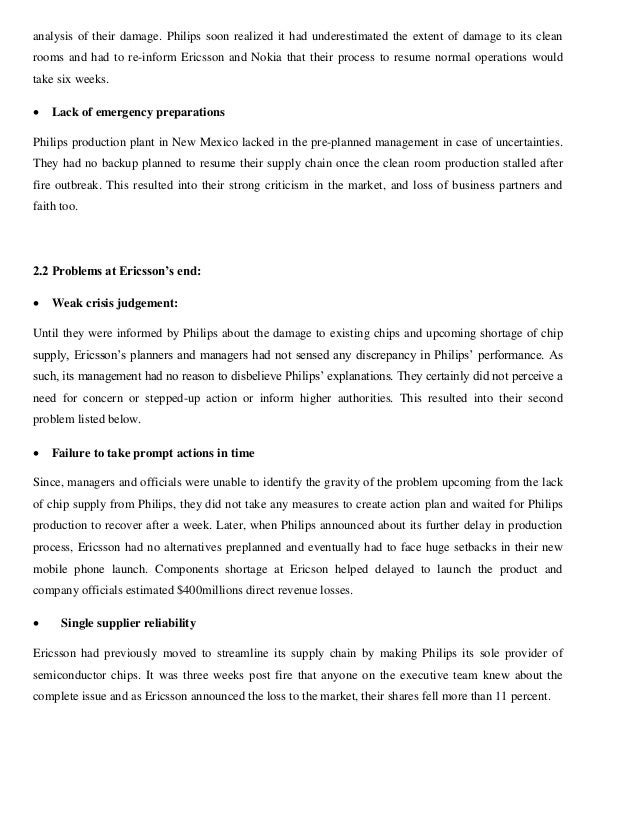 Operations Management Case Study Analys