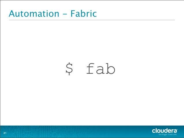 Automation - Fabric $ fab 41