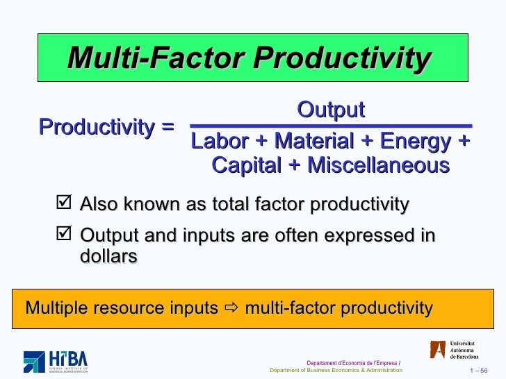 productivity in operations management pdf