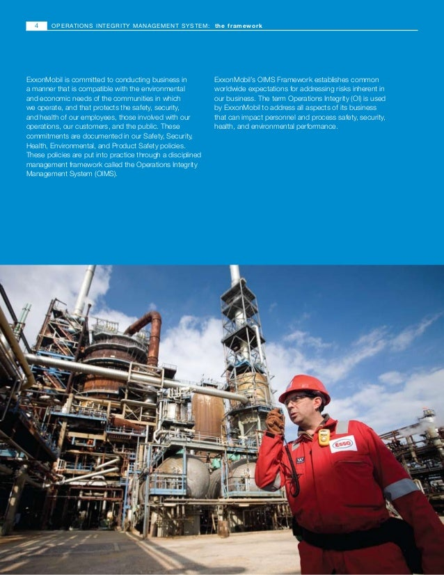 Operations integrity management system exxon mobil