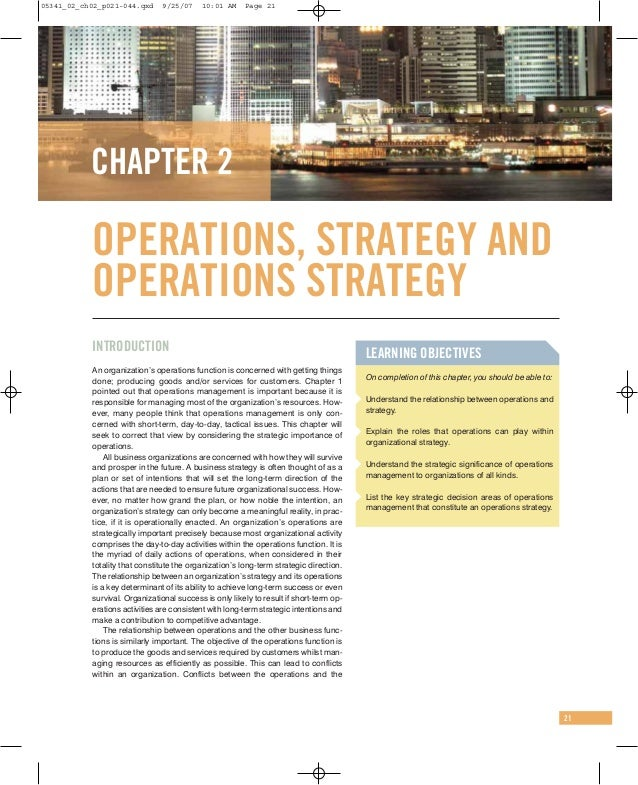 case study operations strategy development at askeys
