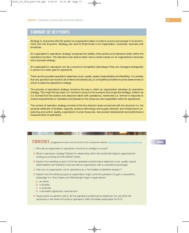 case study operations strategy development at askeys