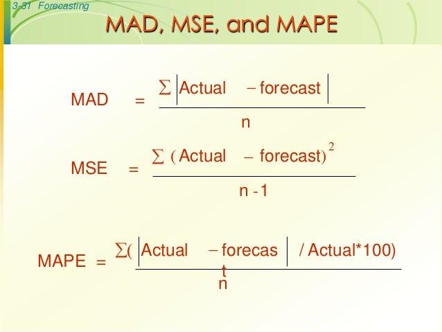 Operations Management Forecasting