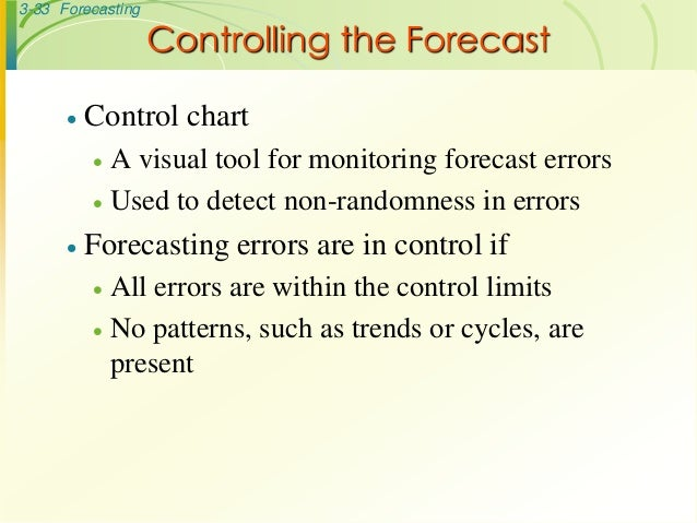 PDF) Forecasting in Operations Management