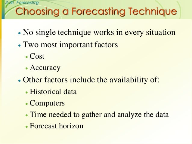 Operations Management Forecasting MBA lecture notes