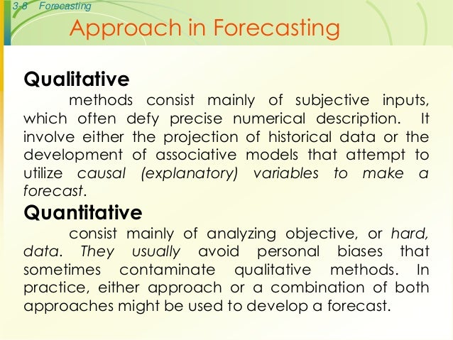 Operations Management Forecasting