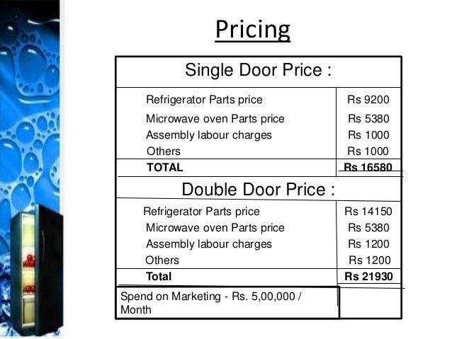 12. Single Door Price ...  sc 1 st  SlideShare & REFRIGERATOR INDUSTRY