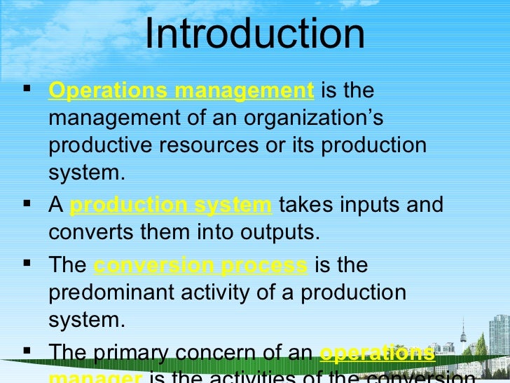 mba operations management The mba program is an internationally oriented general management program that provides students from different industries and professions with the expertise to understand the.