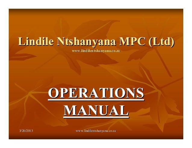 3/26/20133/26/2013 www.lindilentshanyana.co.zawww.lindilentshanyana.co.zaLindile Ntshanyana MPC (Ltd)Lindile Ntshanyana MP...