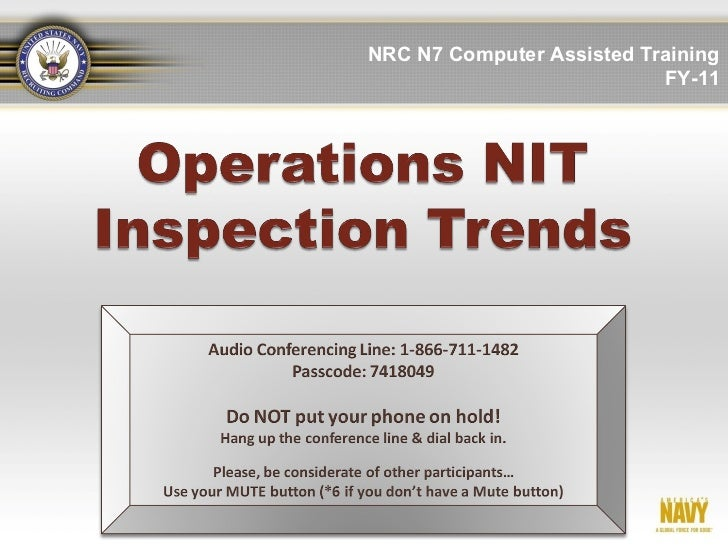 NRC N7 Computer Assisted Training                           FY-11