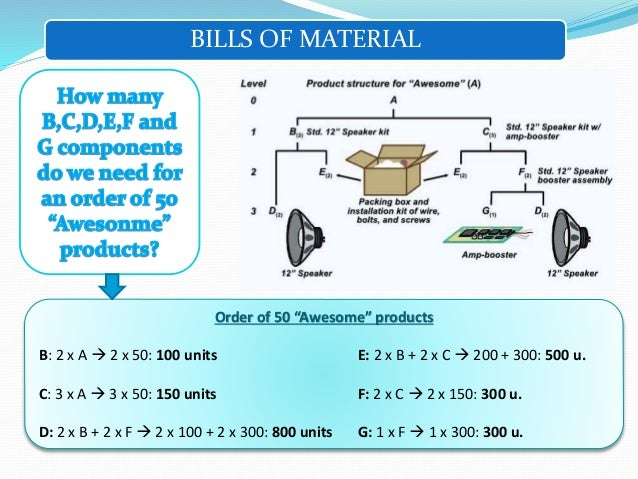engineering bill of materials pdf