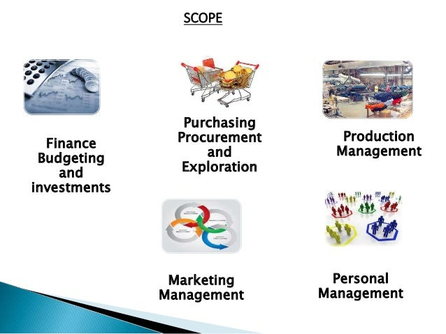 Finance Budgeting and investments Purchasing Procurement and Exploration Production Management Marketing Management Person...