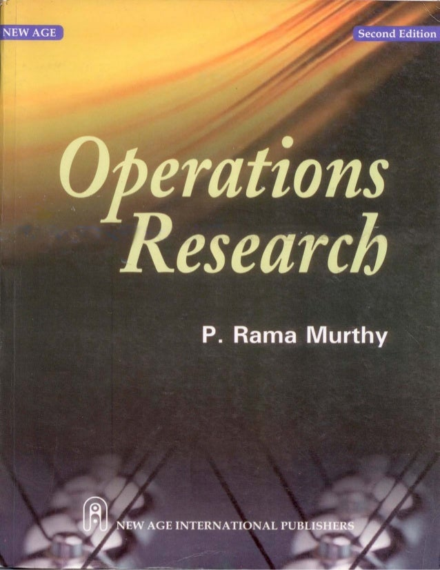 Operations Research 2nd edition