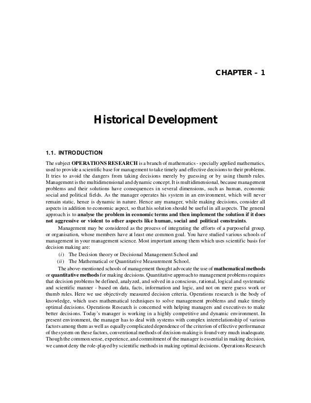 Historical Development                                                                              3      (b) Through a c...