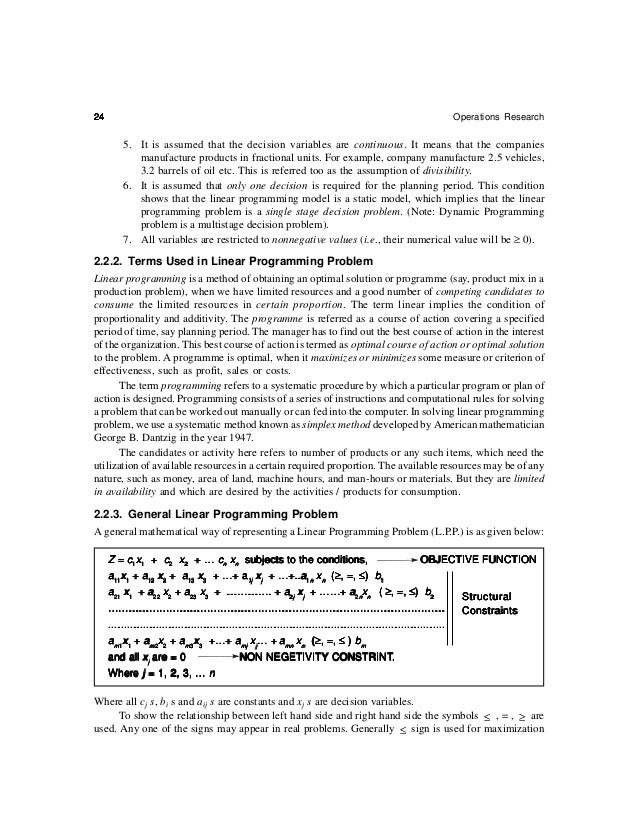 26                                                                                 Operations Research     In order to pre...