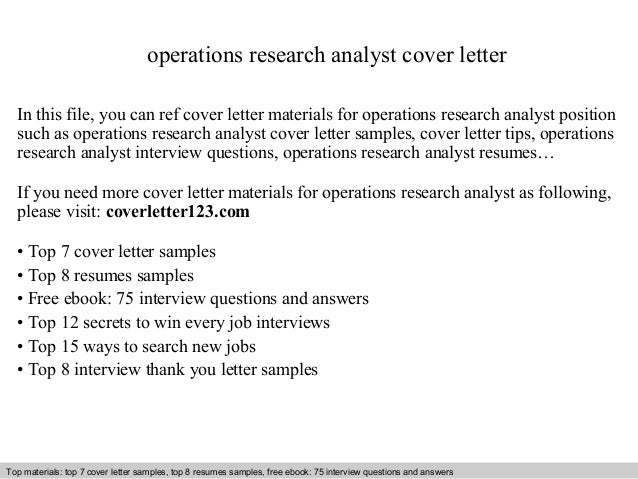 Superb Market Research Cover Letter