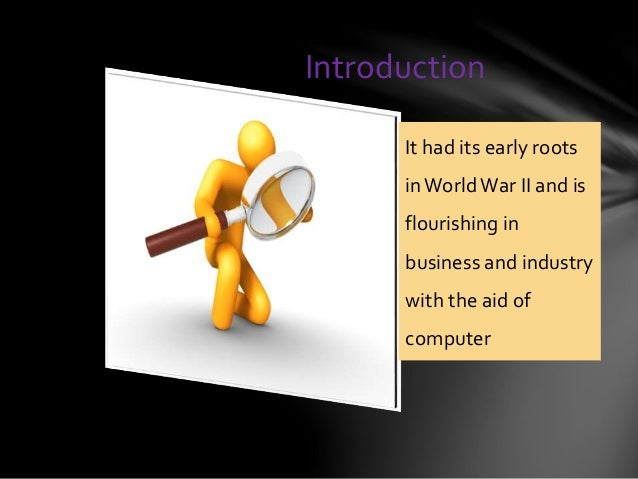 Operations research ppt Slide 2