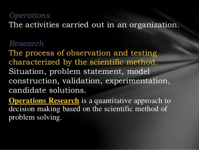 Operations research ppt Slide 3