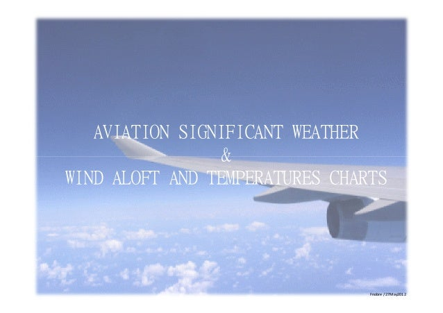 AVIATION SIGNIFICANT WEATHER & WIND ALOFT AND TEMPERATURES CHARTS  Fnobre / 27May2012