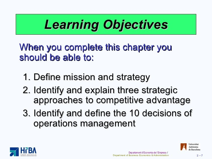 10 strategic operation management decision