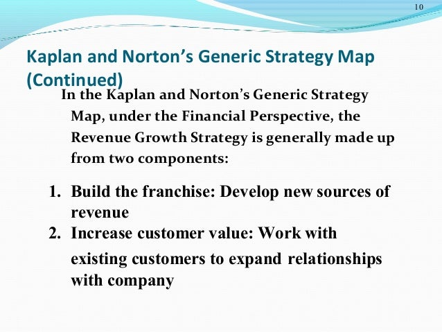 operational management kaplan nortan generic map Linking the balanced scorecard to strategy robert s kaplan david p norton s ond, the non-financial measures they use are generic and are not related to spe-cific strategic objectives.