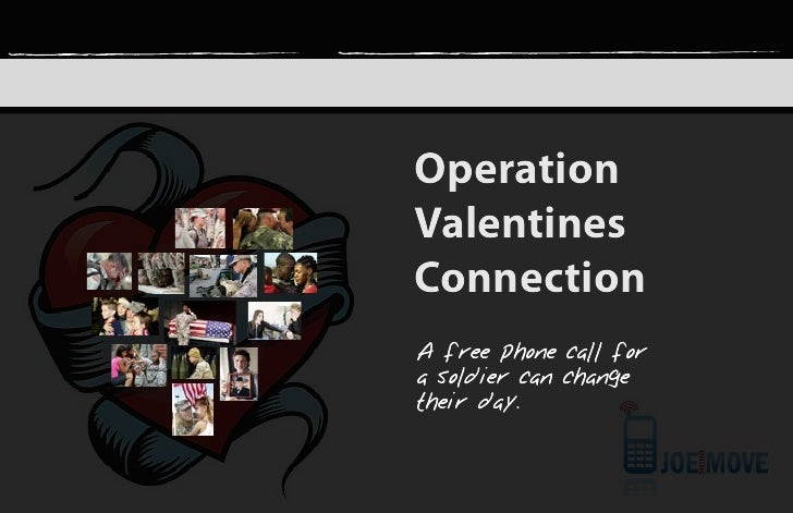 Operation Valentines Connection A free phone call for a soldier can change their day.