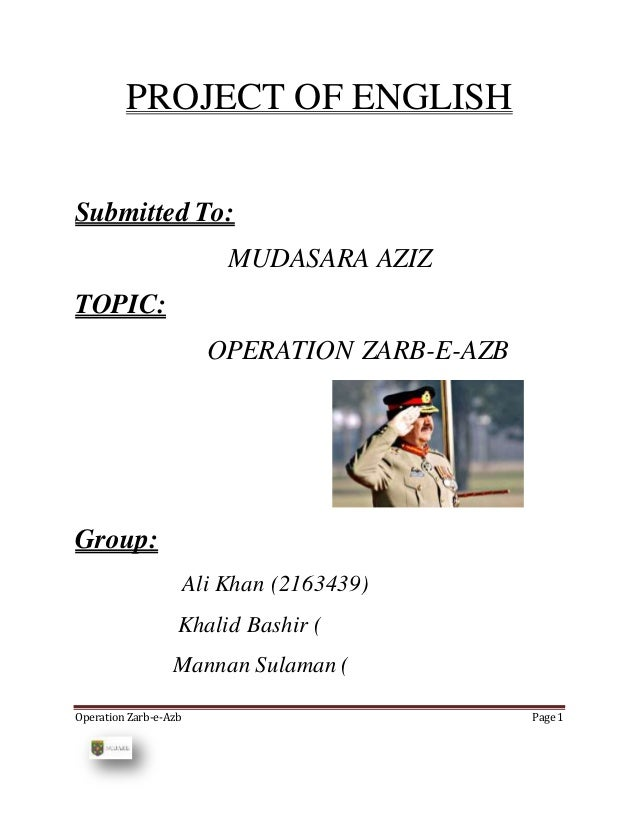 essay on operation zarb e azb in english