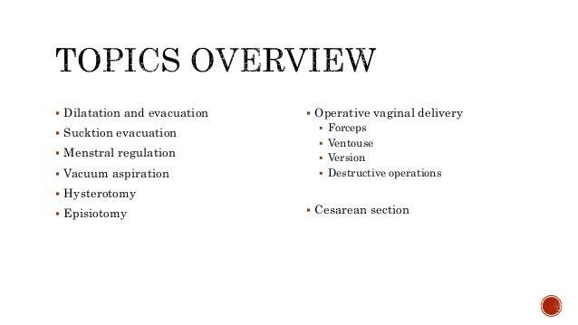 Operative Obstetrics Slide 2