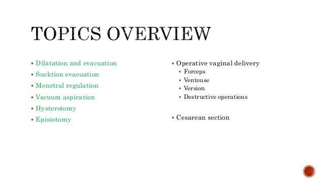 Operative Obstetrics Slide 3